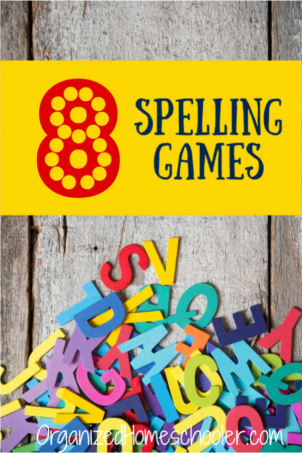 Check out these fun spelling games. They are a great way to practice spelling words and build spelling skills. There are online and physical games. There are even free options! #homeschool #spellinggames #gameschool #organizedhomeschooler